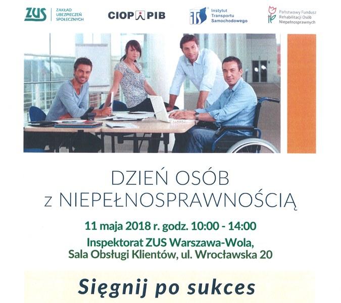 """""""Sięgnij po sukces"""" – 11 maja w ZUS w Warszawie"""