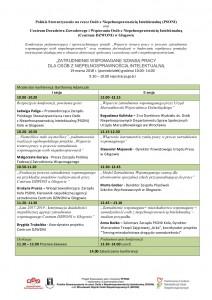 Program Konferencja - Zatrudnienie wspomagane