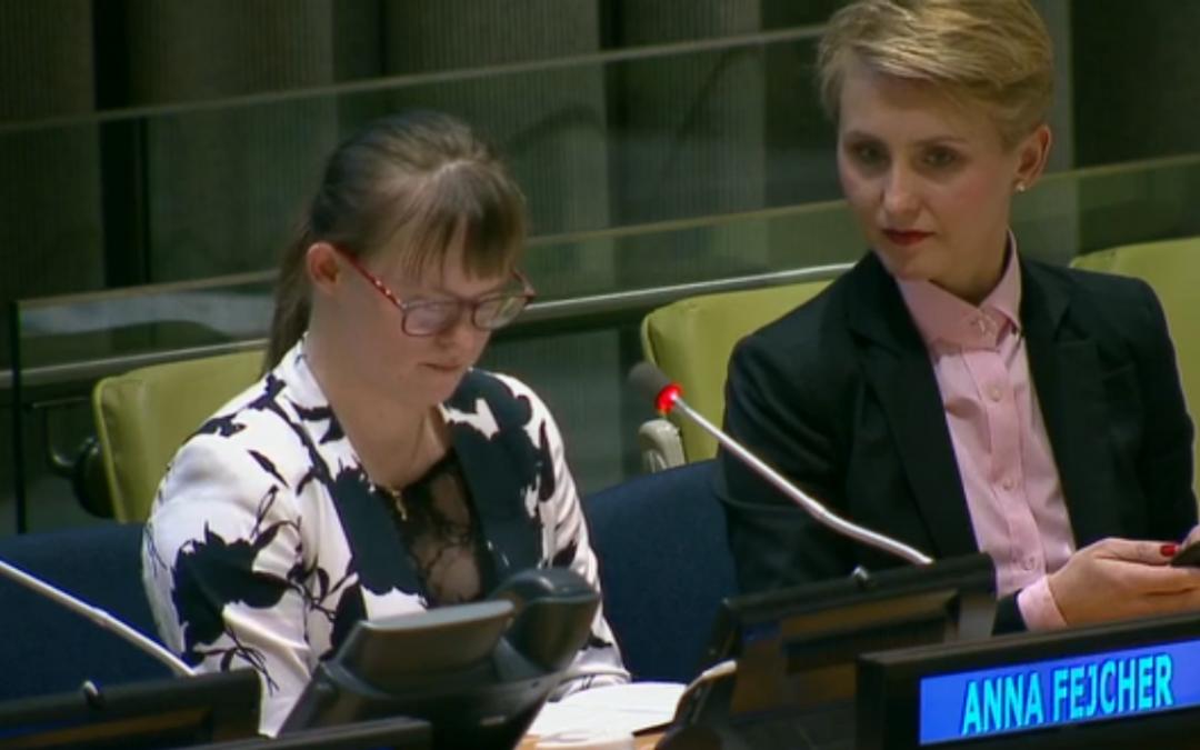 Światowy Dzień Zespołu Downa – Reprezentantki PSONI na Konferencji ONZ w NY